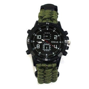 Outdoor Multi-purpose Survival Watch Rechargeable 2km Infrared SOS LED Light