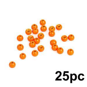 Maximumcatch 25pc 2.0-4.6mm Fly Tying Tungsten Beads  Four Colors Fly Tying Material Fishing Accessory