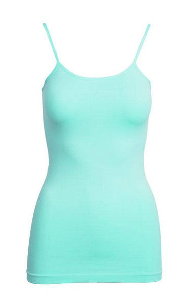 Curvy Ocean Blue Basic Nylon Tank