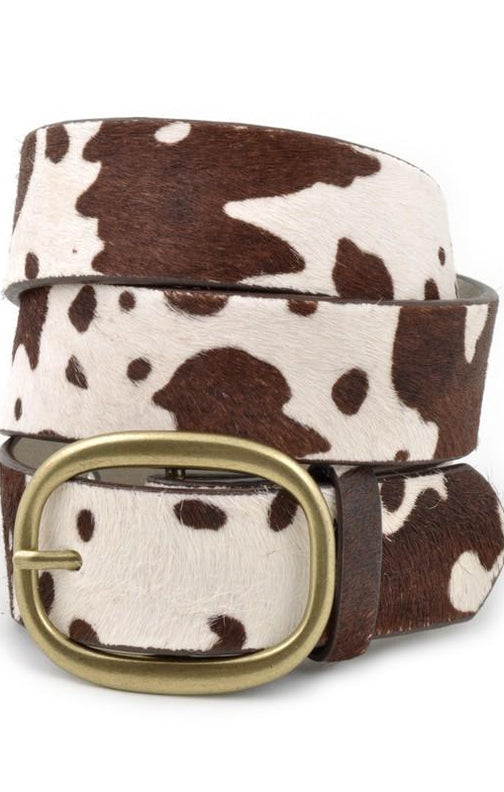 Cow Hair Genuine Leather Belt