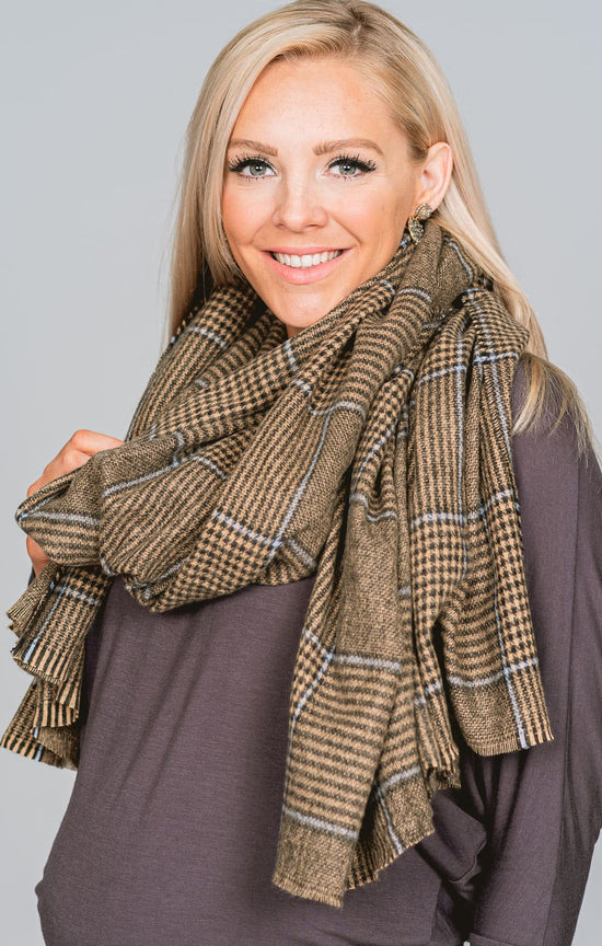 Winter Plaid Blanket Scarf
