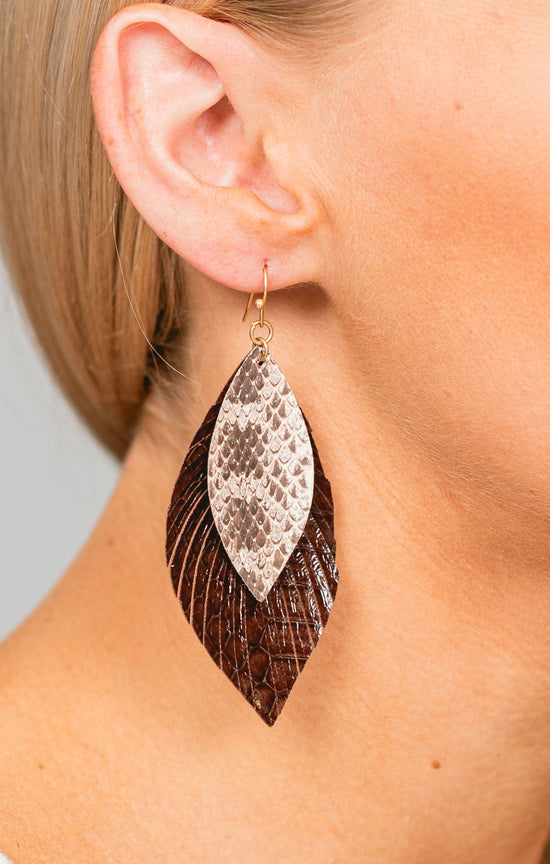 Reece Snakeskin Layered Earrings