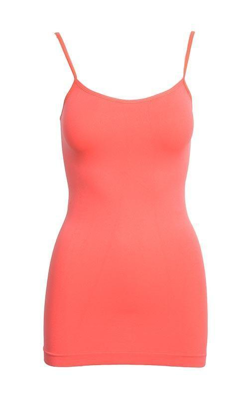 Tank Top One Size Fits All / Coral Melon Basic Nylon Tank