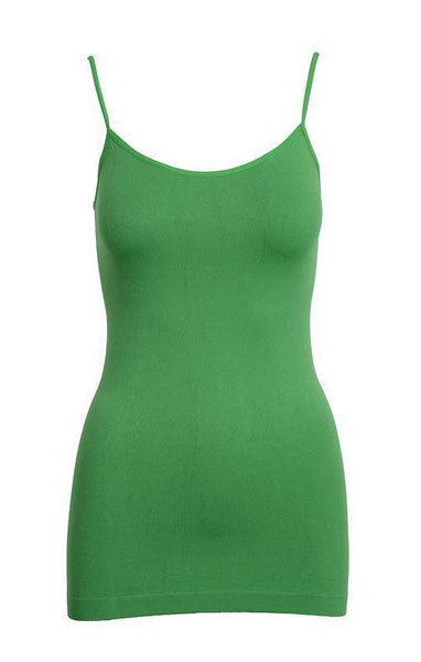 Tank Top One Size Fits All / Green Kelly Green Basic Nylon Tank