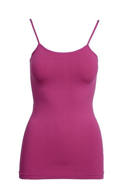Tank Top One Size Fits All / Pink Raspberry Basic Nylon Tank