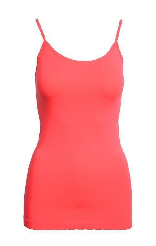 Tank Top One Size Reg / Coral Coral Basic Nylon Tank