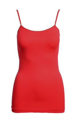 Tank Top One Size Reg / Red Red Basic Nylon Tank