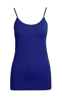 Tank Top One Size Regular / Blue Colbalt Blue Basic Nylon Tank