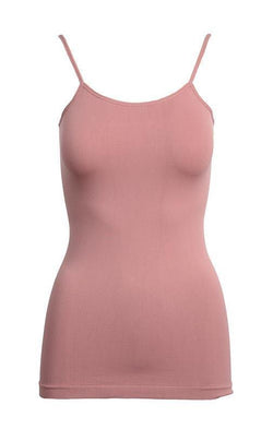 Tank Top One Size Regular Mauve Basic Nylon Tank