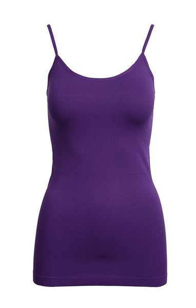 Tank Top One Size Regular Purple Basic Nylon Tank