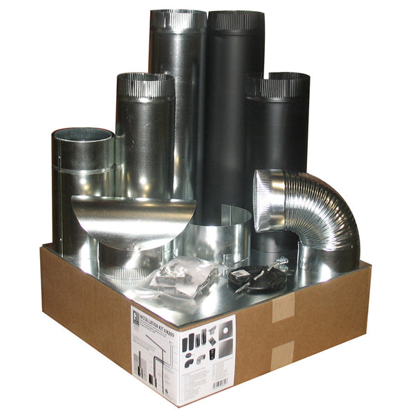 Air tight heater installation kit