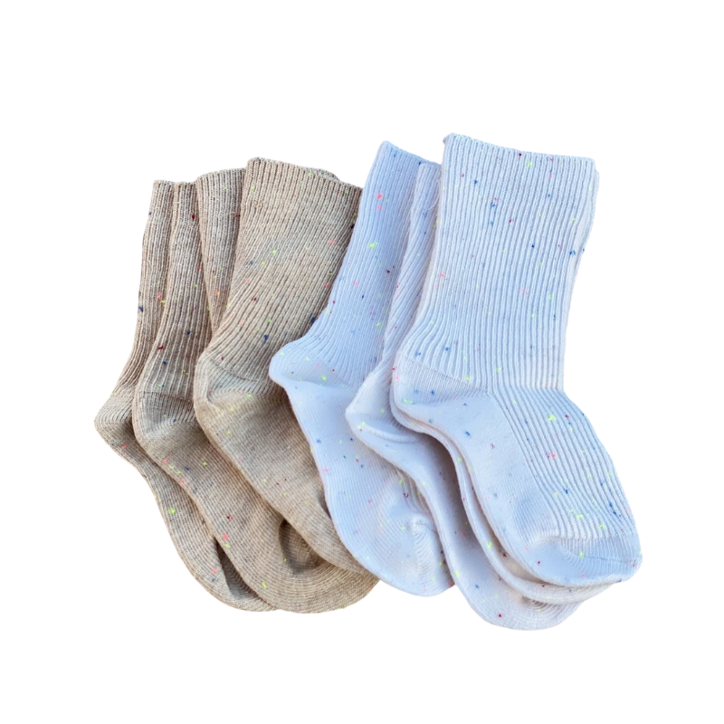 Ivory Sprinkle Socks