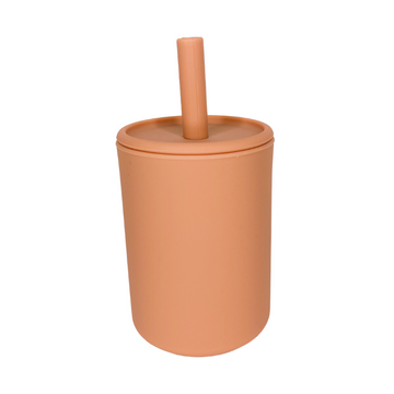 Clay Straw Cup With Lid