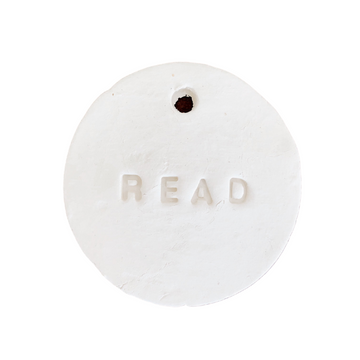 'Read' Clay Tag