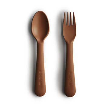 Caramel Fork and Spoon Set