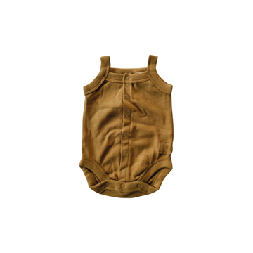 Antique Brass Organic Tank Top Suit