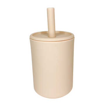 Nude Straw Cup With Lid