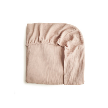 Blush Extra Soft Muslin Crib Sheet