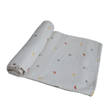 Dinosaurs Organic Cotton Muslin Swaddle Blanket [Last One]