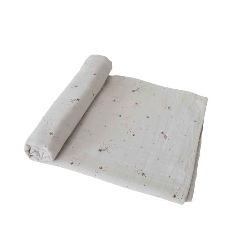 Falling Stars Organic Cotton Muslin Swaddle Blanket [Last One]