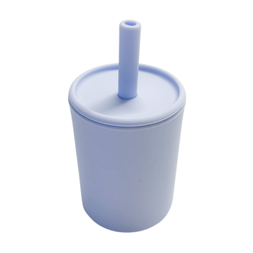 Baby Blue Straw Cup With Lid [Last One]