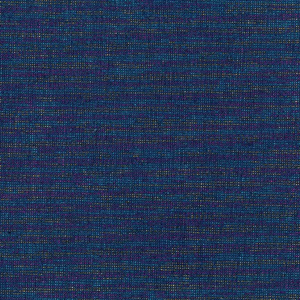 1/2M Essex Yarn Dyed Metallic Linen in Navy