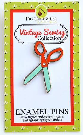 Retro Scissors Enamel Pin