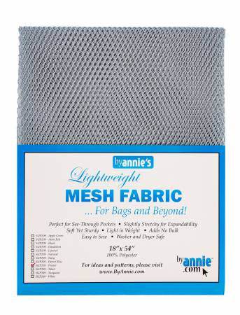 "Lite Weight Mesh Pewter 18"" x 54"""