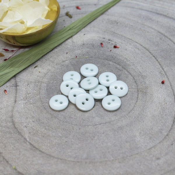 10mm Classic Shine Buttons in Sage 10-pack