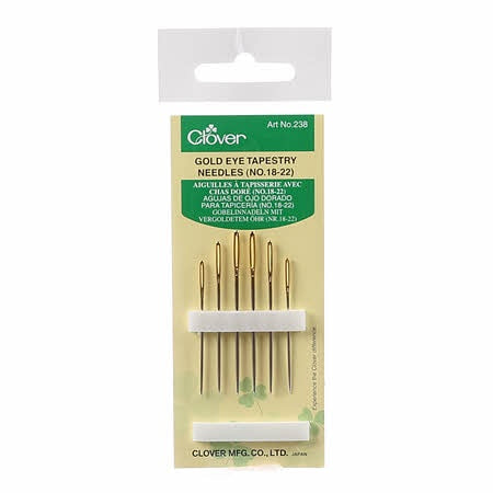 Tapestry Gold Eye Needles Assorted Sizes 18-22