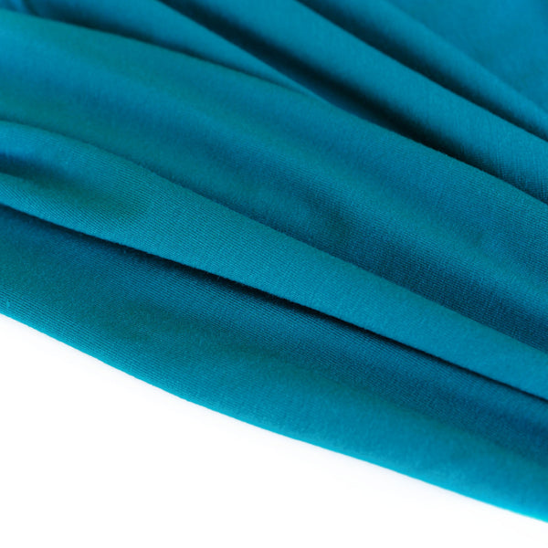 1/2M Bamboo Jersey in Deep Teal