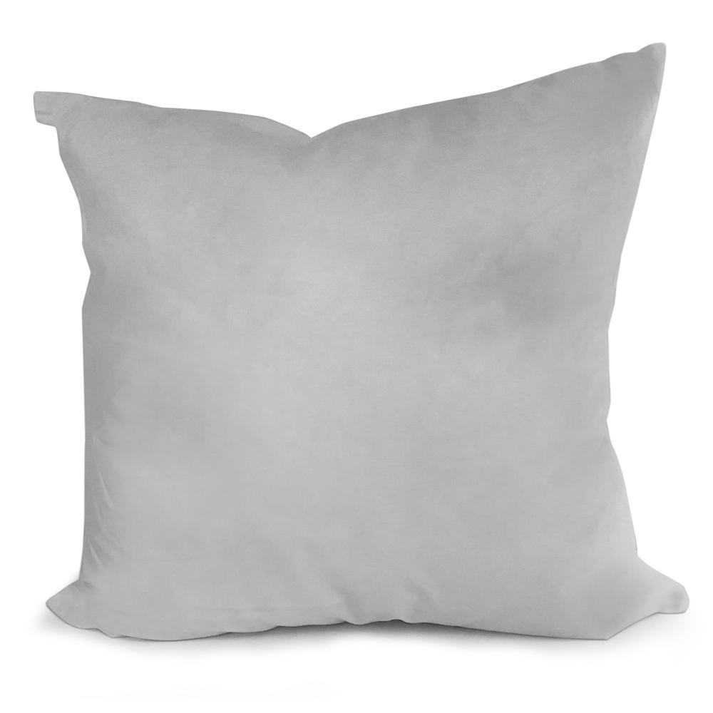 "Down/Feather Pillow Form: 22"" x 22"""