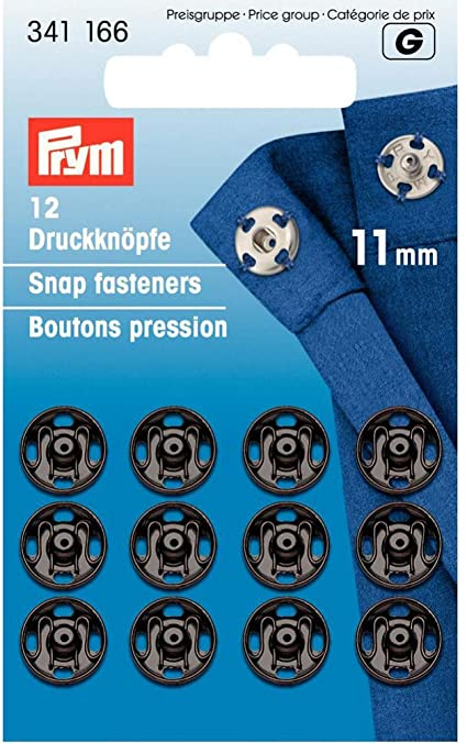 Snap Fasteners: 11mm Black