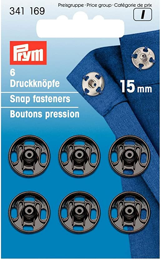Snap Fasteners 15mm black