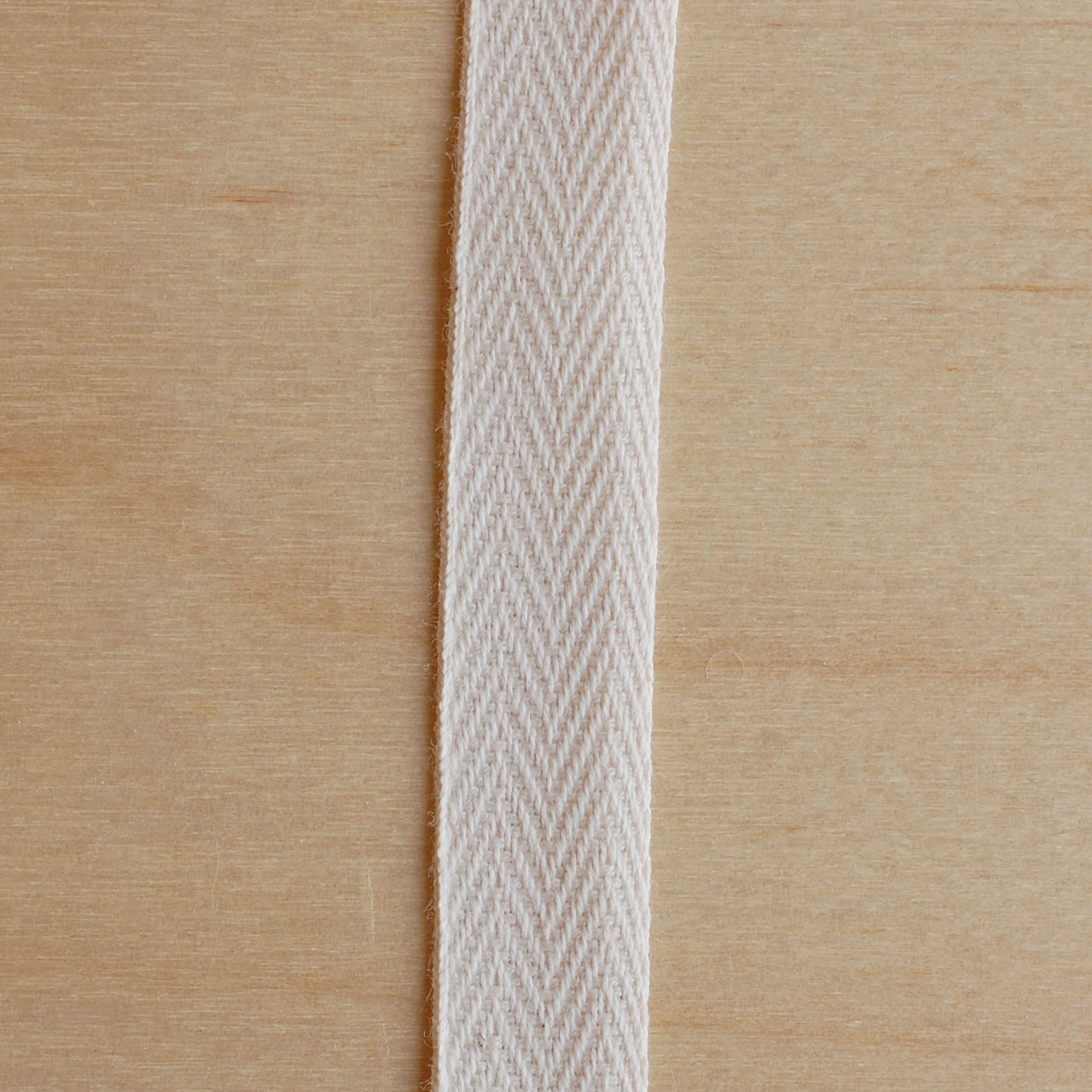 1/2M 0.5in Cotton Twill Tape Natural (12mm)