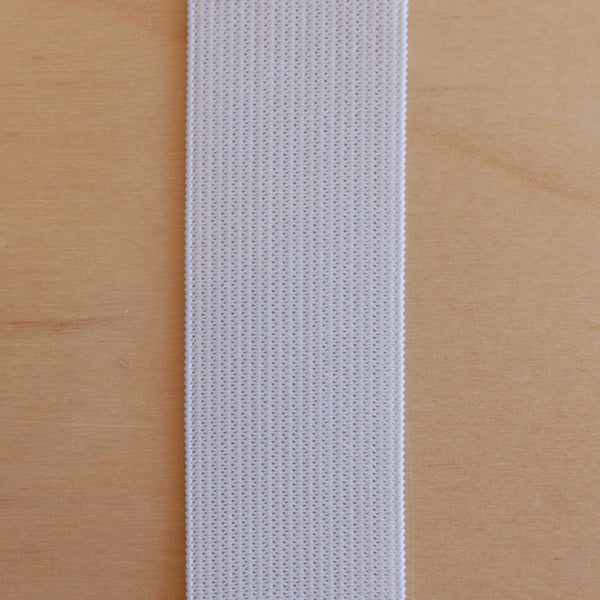 1/2M 1in (25mm) Knit Elastic - White