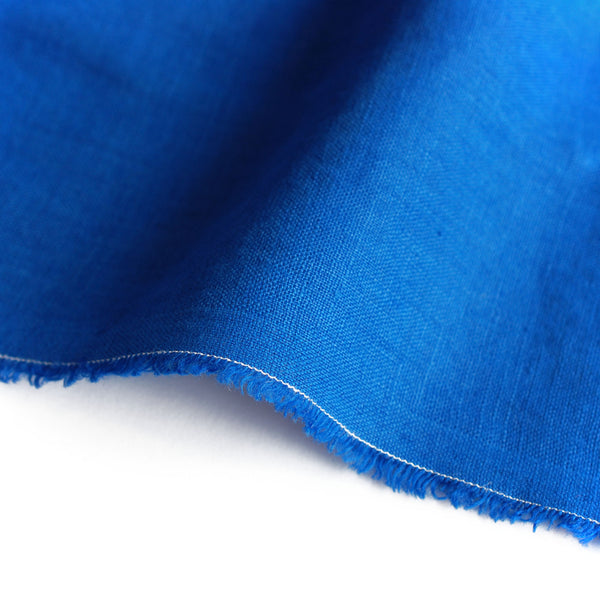 1/2M European Laundered Linen in Cobalt