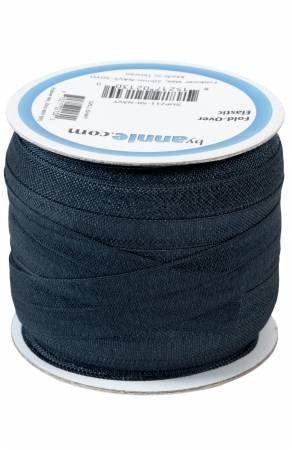1/2M Fold Over Elastic in Navy