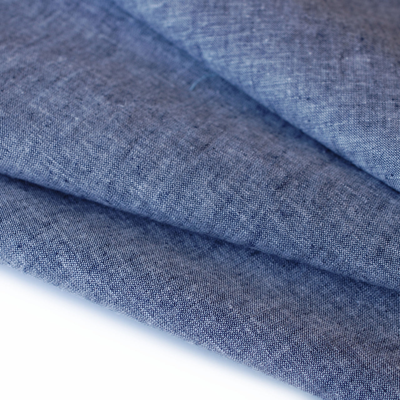 1/2M Linen/Cotton Yarn Dyed Chambray in Navy