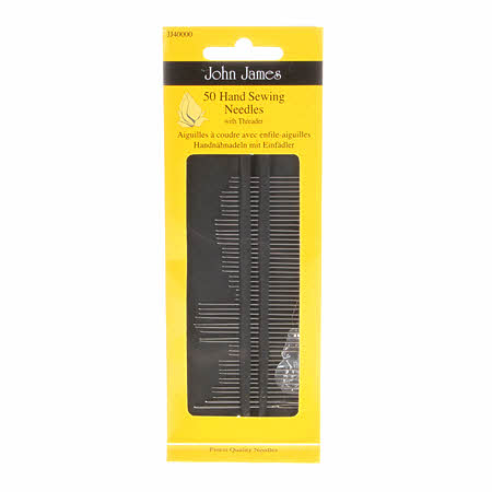 50 Hand Sewing Needles with a Threader