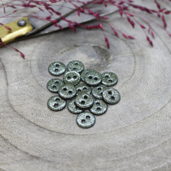 12mm Glitter Button in Cedar 10-pack