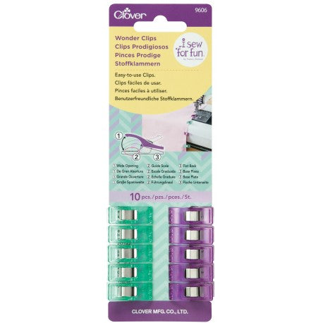 Wonder Clips: Purple and Green: 10 Pack