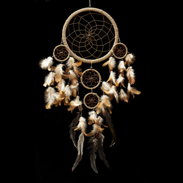 "Dream Catcher ~ Handmade Traditional String Natural Color 8.5"" Diameter 22"" Long!"