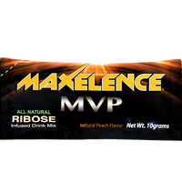 MAXelence MVP Workout Recovery Drink Mix Individual Sports Packet Peach