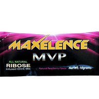 MAXelence MVP Workout Recovery Drink Mix Individual Sports Packet Raspberry