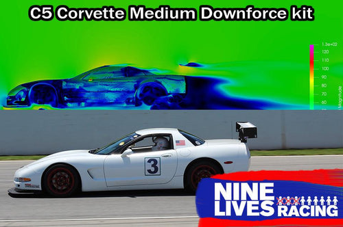 9LR Medium down-force kit for C5 Corvette