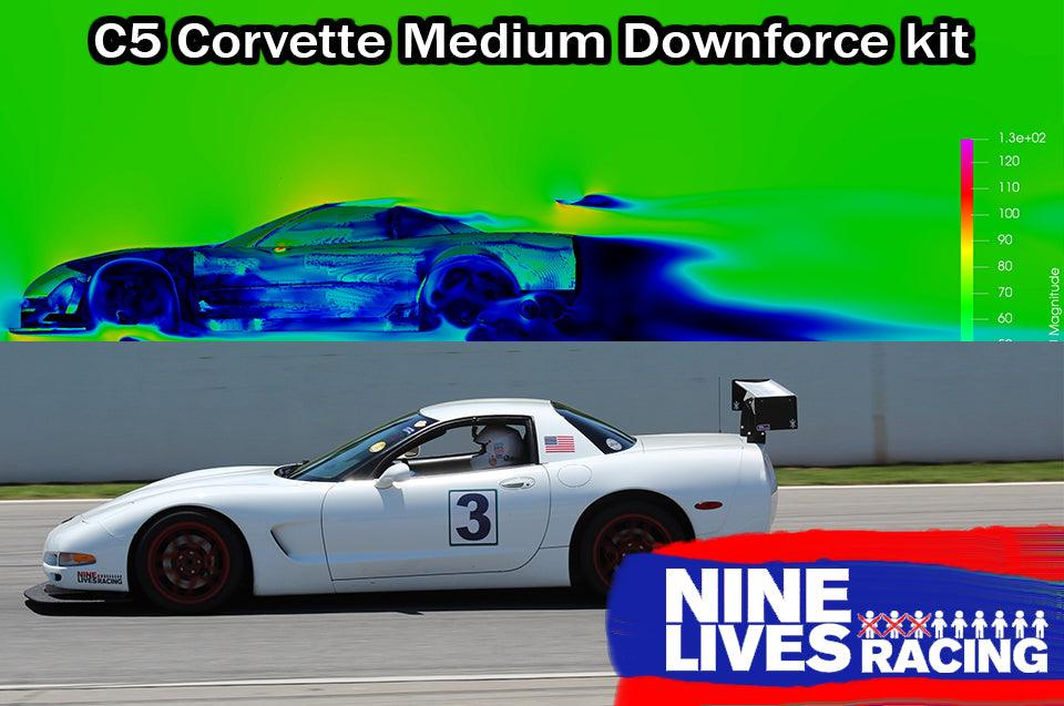 9LR Medium down-force kit for C5 Corvette (chassis mount)
