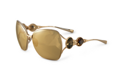 Heart of Gold w/Genuine Precious Metal Lenses - - SamaEyewearShop.com - 1