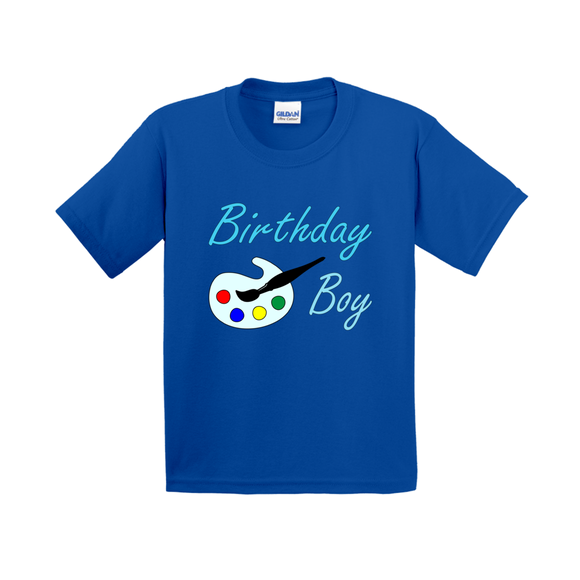 Art Themed Birthday Boy T-Shirts (Youth Sizes)