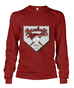 Baseball Boys Bar Mitzvah Birthday Long Sleeve Shirt